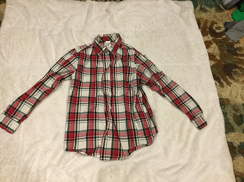 Gymboree Red Green White Plaid Dress Shirt