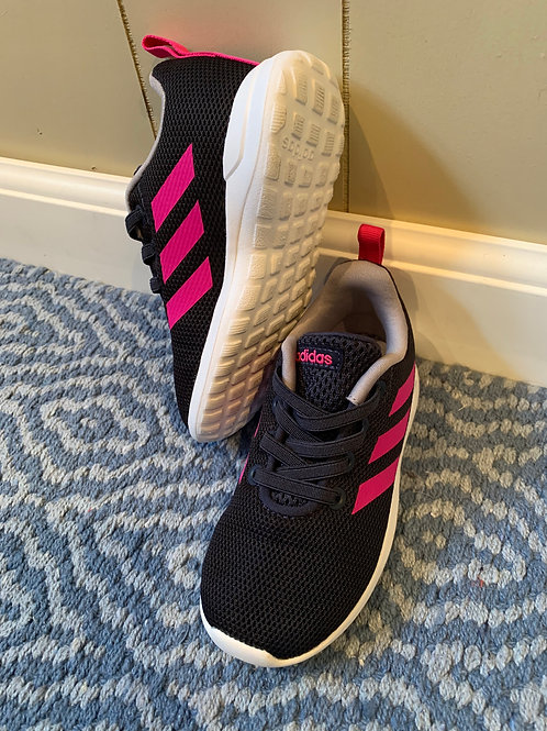 Like New! Adidas Navy & Pink faux lace Sneakers 8