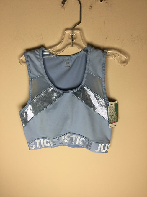 NEW Justice blue size 30 sports bra retails 20