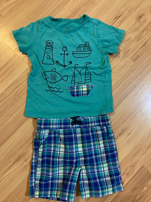 first impressions nautical shorts/tshirt outfit