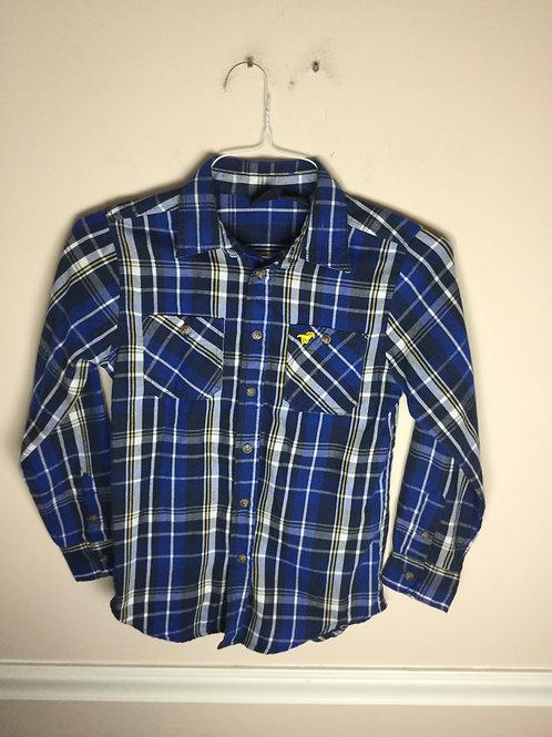 Wrangler blue plaid Button down shirt