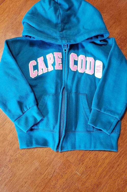 Cape Cod hoodie turq/pink