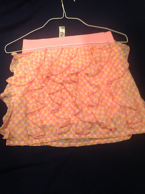 Knitworks pink polka dot skirt XL