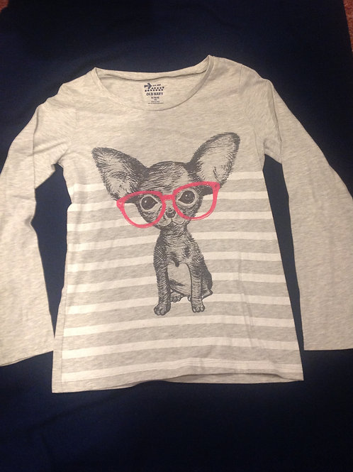 Old Navy gray ls shirt dog