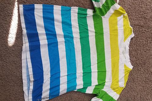 PS Ss white w green Stripes