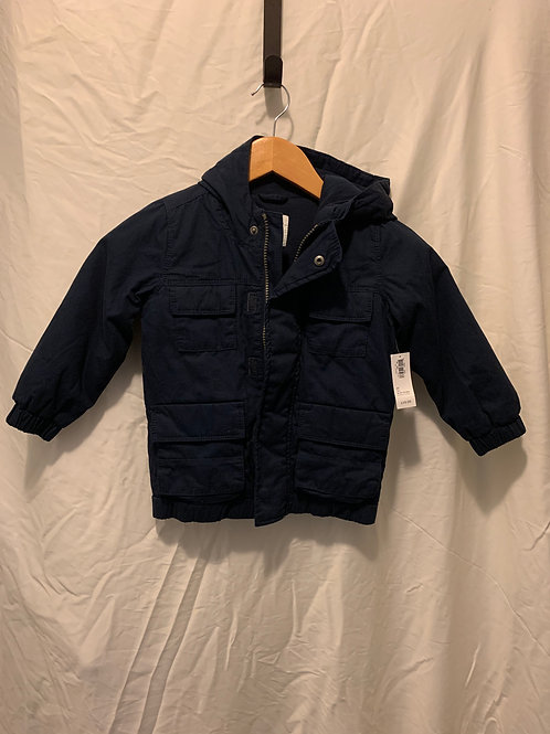 old navy heavy jacket, navy, new