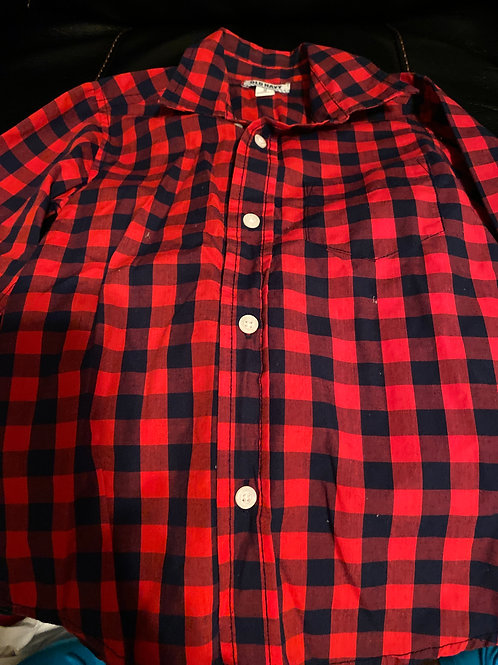 Old navy ls button Down shirt red plaid