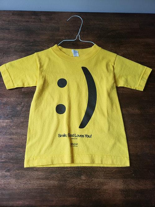 Alstyle Yellow smile Tshirt