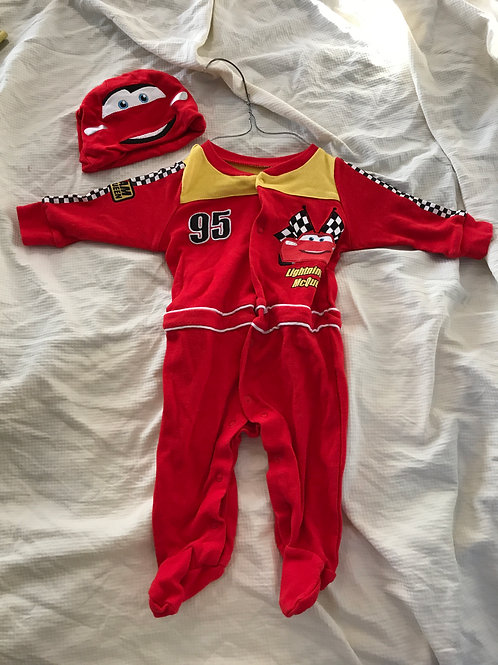 Disney 2pc pjs and hat Cars- red/yellow