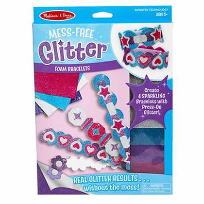 Melissa and Doug Mess-Free Glitter Foam Bracelet