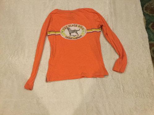 Black Dog Orange Long Sleeve Shirt