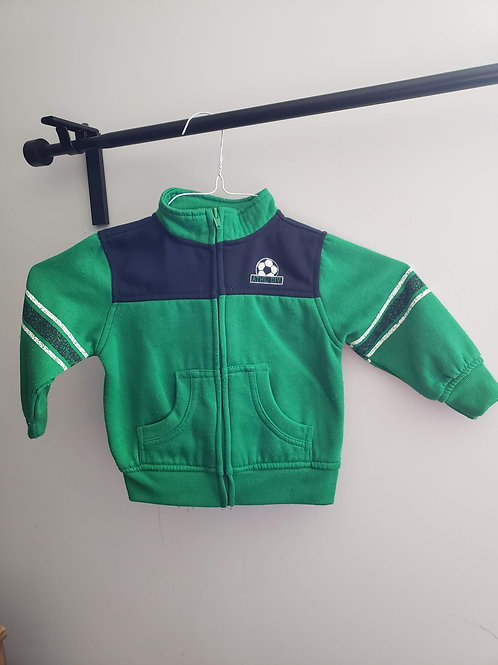 Faded Glory 24M Green Athletic Zip Jacket