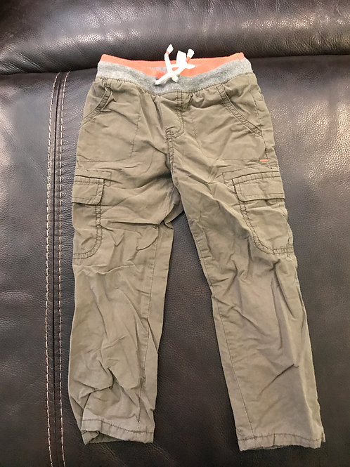 Cat & Jack lined cargo Pull on olive gr pants