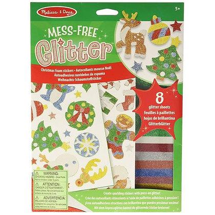 Melissa and Doug Mess-Free Glitter Christmas Foam Stickers