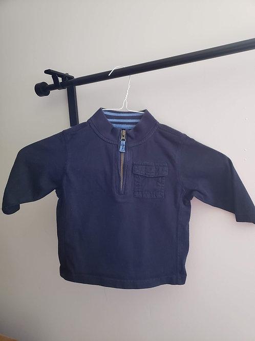 Baby GAP Blue zip shirt