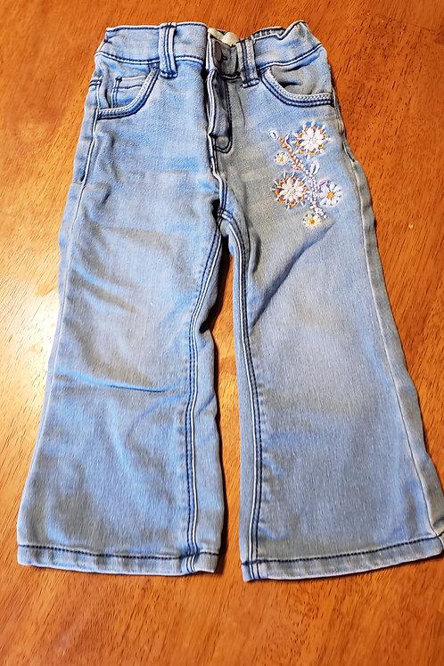 Wonderkids jeans lt blue flowers