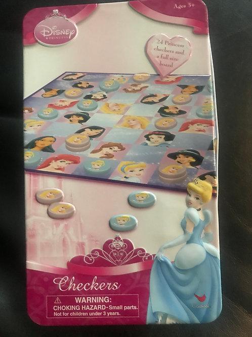 Disney Princess checkers in tin