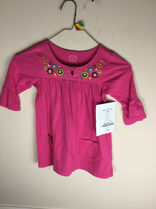 OI Carters pink B flower tunic