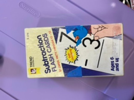 Trend subtraction Flash cards