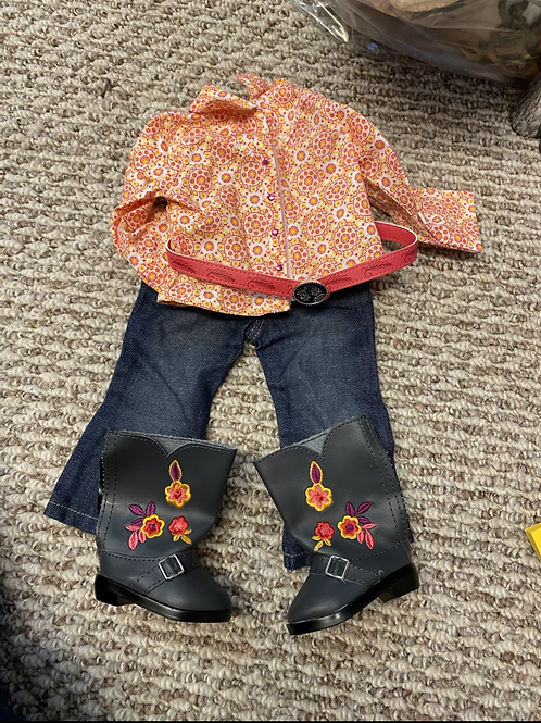American girl Saige Parade outfit
