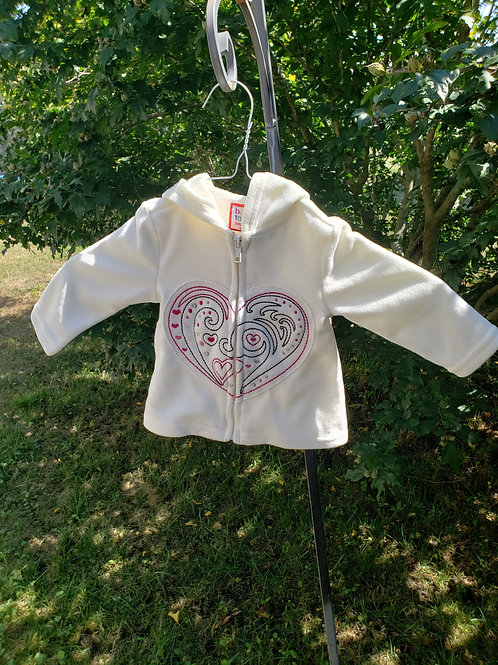Baby Togs Soft hoodie w/Heart