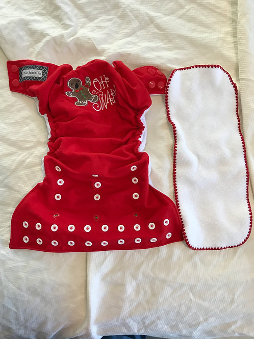 Little beasties cloth w/ Insert- red oh snap