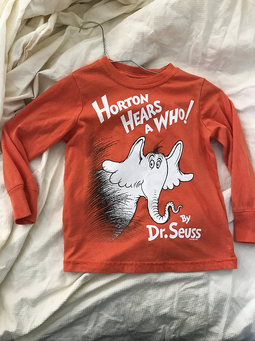 ON LS T-shirt orange Horton hears a who