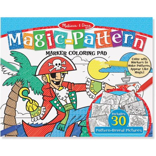 Melissa & Doug Magic-Pattern Marker Kids' Coloring Pad - Pirates, Sports, Castle