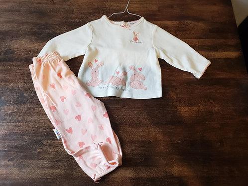 Vitamins Baby LS bunny shirt & pant