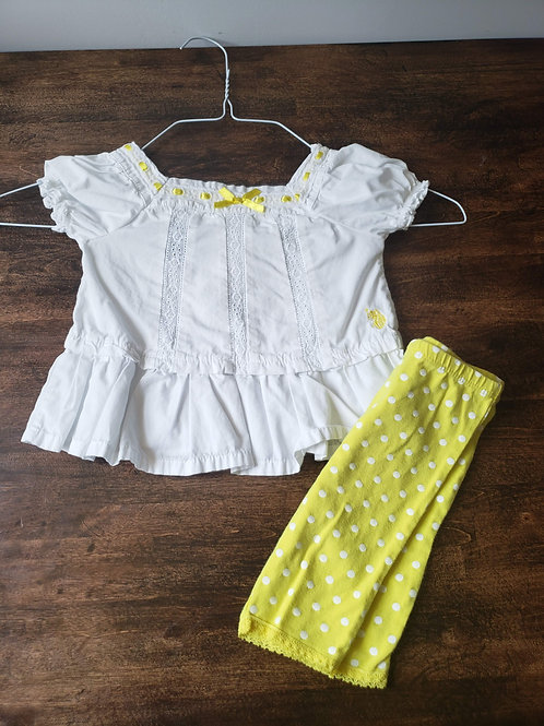 Ralph Lauren White blouse/pant set