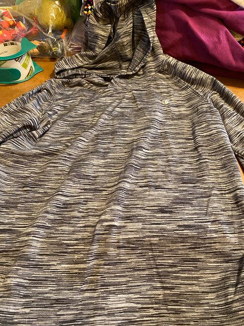 Champion  ls hooded shirt Gray black