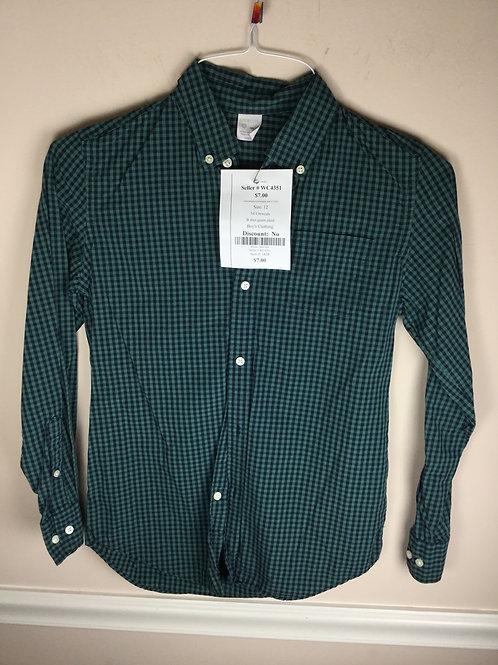 NI Crewcuts B shirt green plaid