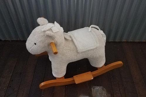 pottery barn plush rocker horse