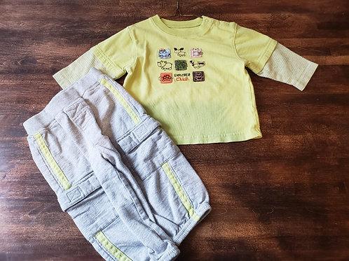 Carter's Shirt/Pant Set Green/Grey Explorer