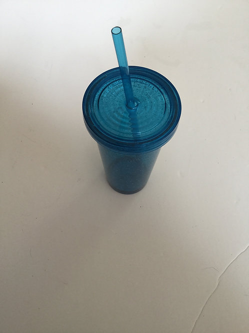 New Blue Sparkle cup