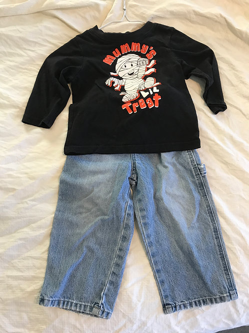 TCP 2pc LS black shirt Mummys treat- jeans