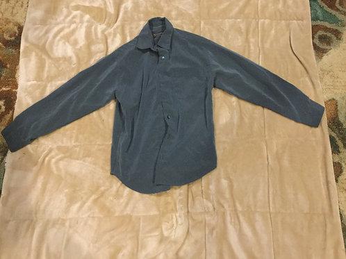Van Heusen Green Checkered Dress Shirt