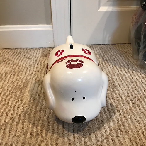Dog piggy bank Kisses all over it