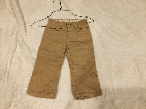 Childrens Place Khakis With Gold Sparkles