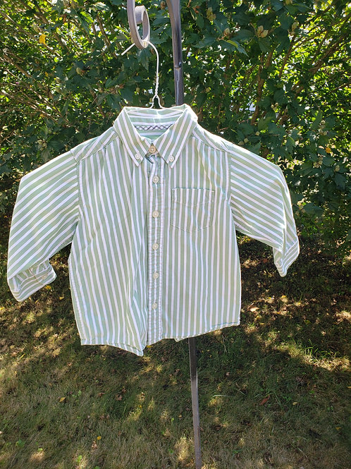 Childrens Place Green stripe dress shirt