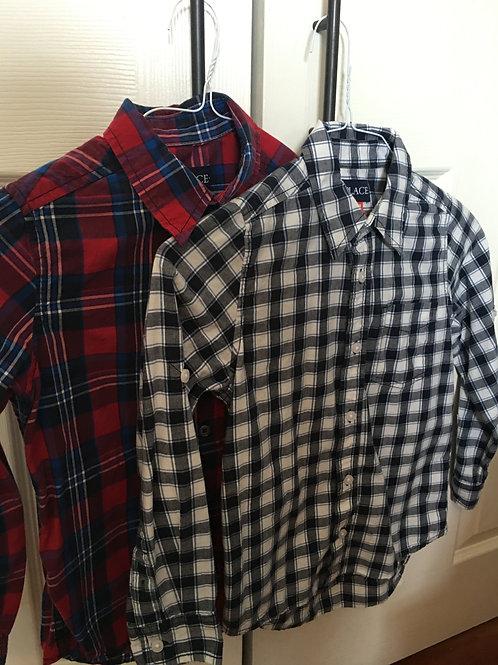 TCP button down shirts 2 LS plaid