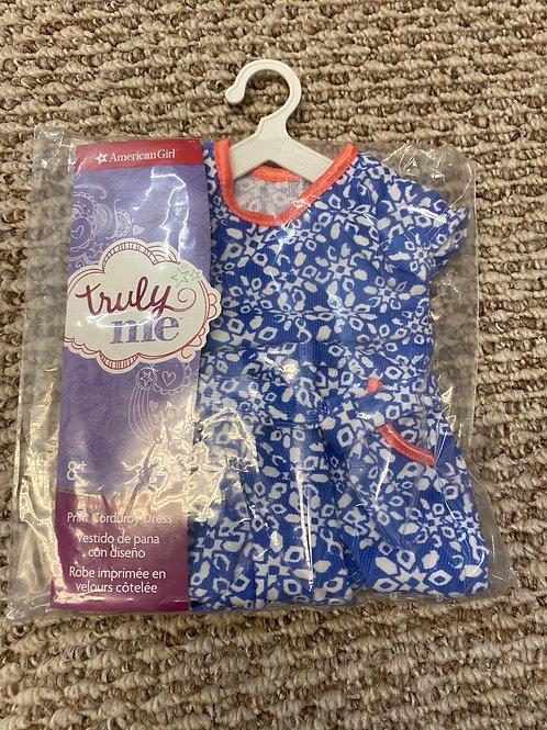 American Girl print corduroy dress NEW