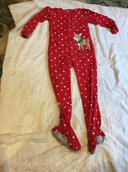 Carters Blanket Sleeper Red White Dots Reindeer