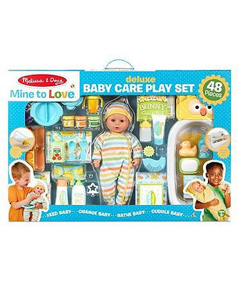 Melissa & Doug Mine to Love Deluxe Baby Care Playset