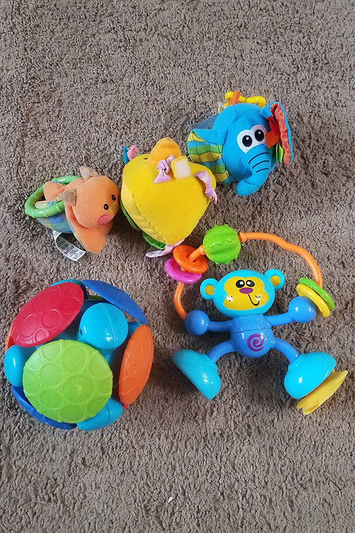 5pc set vibrating ball Monkey 3 soft toys