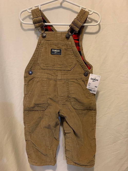 Oshkosh brown corduroy, new, 9mo