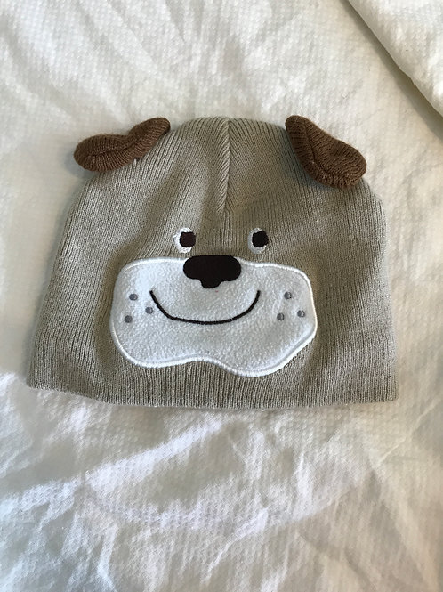 Carters 3-9m hat Brown dog