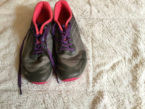 Merrell Gray Tie Sneakers Purple Laces