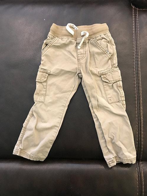 Carters tan cago Chino pants elastic waste