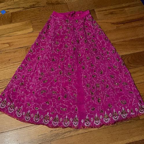 Pink sequin Long skirt